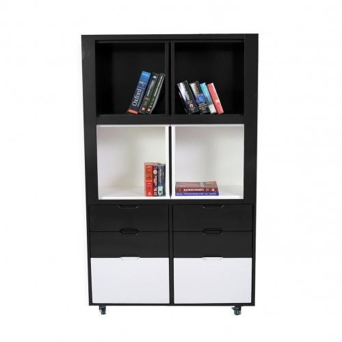 Creser Grey White Extendable Moving Cabinet, For Home & Office