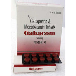 Gabacom Gabapentin Tablets, 10*10, Treatment: Nerve Pain