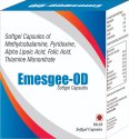 Softgel Capsules of Methylcobalamine Pyridoxine Alpha Lipoic Acid Folic Acid Thiamine Mononitrate