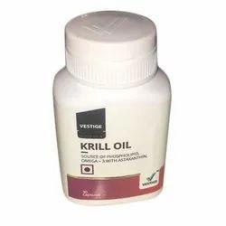 Vestige Krill Oil Capsule, Packaging Size: 30 Capsule, Packaging Type: Plastic Bottle