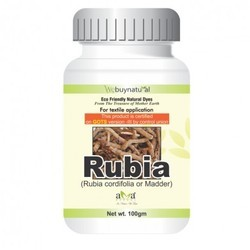 Rubia Natural Madder Textile Dye, Powder, Packaging Type: Bottle