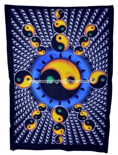 Multi Color Tie Dye Yin Yang Wall Poster Hippie Wall Decor Tapestry Poster