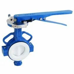 PTFE/PFA/FEP Lined Butterfly Valve