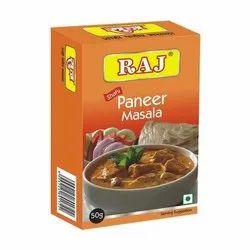 Raj Shahi Paneer Masala, Packaging Size: 50 g, Packaging Type: Box