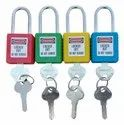 With Key Multicolor Osha Safety Loto Steel Padlock, Stainless Steel, Padlock Size: 38 Mm