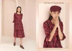 Poonam Designer Launch Ikat Handloom Kurti Catalog