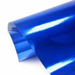 Blue Car Wrap Vinyl Roll, Size: 60