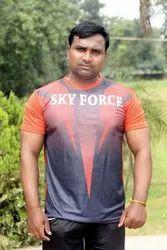 Sportshelpline Polyester Casual Round T-shirt