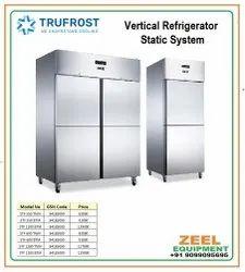 double door Metal Door Vertical Refrigerator Static System, +2to +8c, Capacity: 550 Ltr