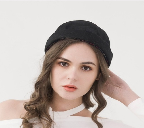 Korean Trend No Eaves Flanging Frdoras Hats Spring Summer Street Melon Hats 56-60CM