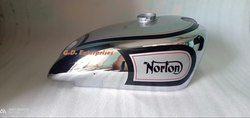 New Norton Manx International Silver Paint & Chrome Fuel Petrol Tank Guaranteed