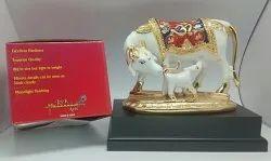 Meena OM Cow and Calf Statue
