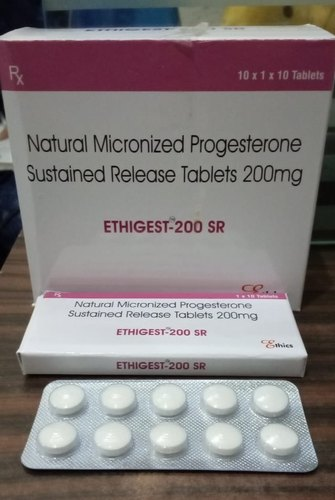 Natural Micronized Progesterone Sustained Release Tablets 200 Mg Packaging Type Box Rs 3000 Box Id 21300370288
