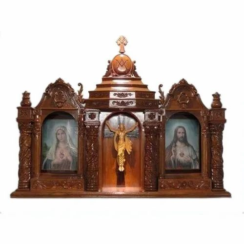 wooden and fiber house altar at rs 60000 piece onwards woodenwooden and fiber house altar