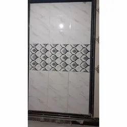 Glossy White Ceramic Wall Tiles, Size: 12*18 Inch, Thickness: 5-10 mm