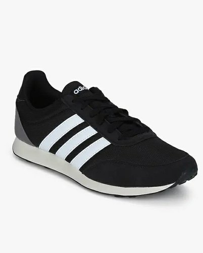 Mens Black Sports Shoes-Adidas V Racer