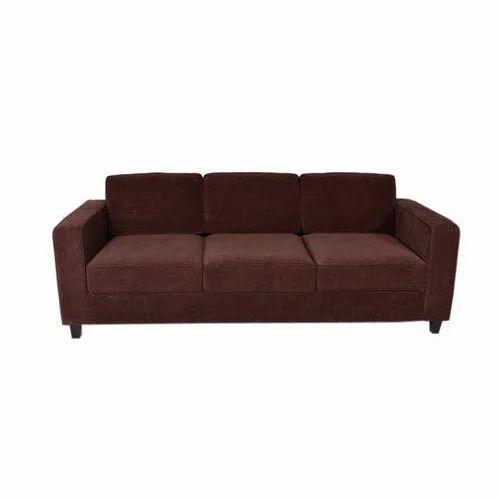Dark Brown Apex 3 Seater Fabric Sofa