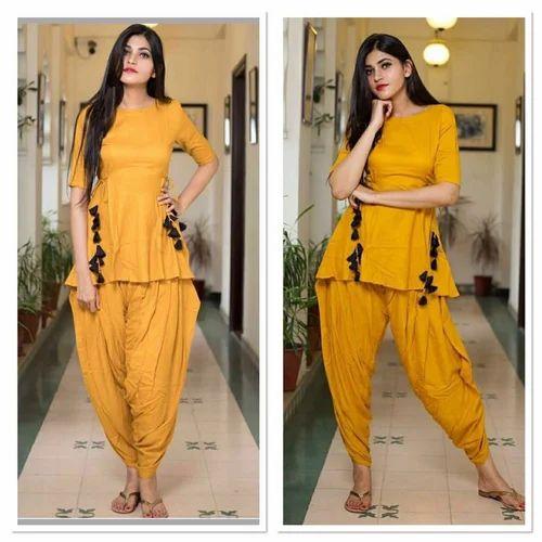 4f625b3672 Rayon Plain Dhoti Style Kurti, Rs 599 /piece, R AND D CREATION | ID ...