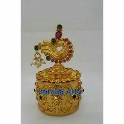 Fancy Golden Kumkum Box