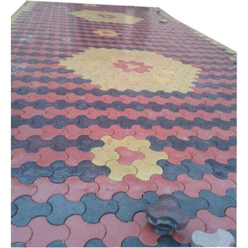 Red And Black Yellow Cement Interlocking Floor Tiles