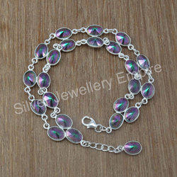 Mystic Gemstone 925 Sterling Silver Jewelry Bracelet