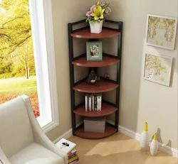 Wooden Open Storage Corner Stand, for Home