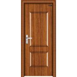 Brown Polished PVC Bathroom Door, For Home