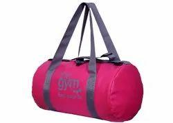 Polyester Pink Women Gym Bag