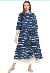 A Line Cotton Kurta For Women