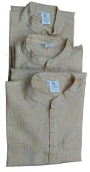 Formal Wear Handloom khadi Men Cotton Kurta, Stand color, Size: 38 40 42 44