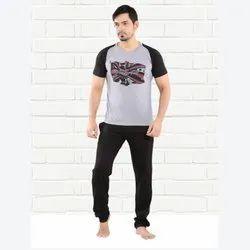 Cotton Half Sleeve Men Printed Round Neck T Shirt
