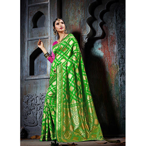 0cef697d41cfb3 Designer Heavy Cotton Silk Jacquard Saree - Roykals Textile