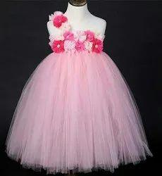 Pink Color Kids Tutu Gown