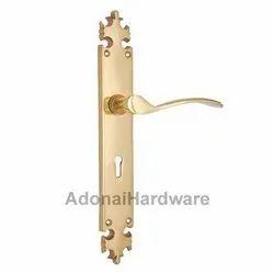 Shebuel Brass Door Handle With Plate