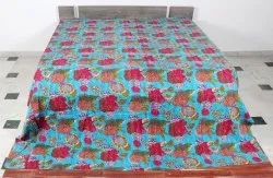 Kantha Fruit Design Bedcover