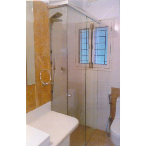 Frameless Glass Shower Partition, Shape: Quadrant, Rs ...