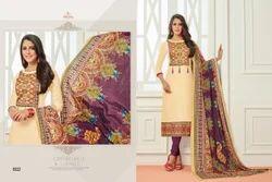 Round Neck Sararara Salwar Suit Fabric