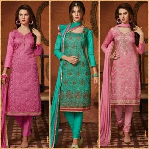 e6f8f44272 Party Wear Embroidered Ladies Georgette Suit Material, Rs 600 /piece ...