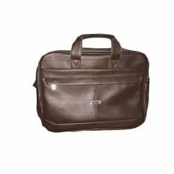 Synthetic Leather Black Executive Office Bag