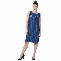 Ladies Straight Blue Tunic