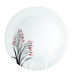 MELAMINE  SPORTY RED BLOOM PLATE