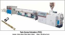 Automatic Single Phase, 3 Phase PVC Twin Screw Extruder