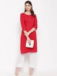 Rayon Solid Straight Kurta HC752to754