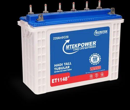Mtek Microtek Et 1148 220ah Inverter Battery Warranty 36 12 Months Rs 19200 Piece Id 21820808130