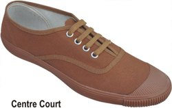 CENTER COURT MAROON CANVAS SHOE