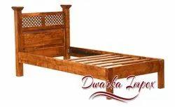 Dwarka Impex Sheesham Wooden Single Bed, Size: 78l x 30w x 38H