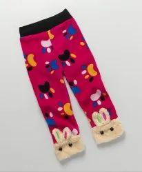 Kidofash Tiger Claw Design Fleece Leggings