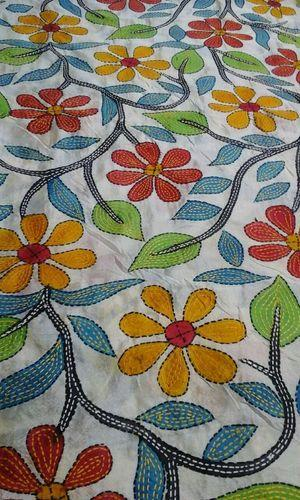 Silk Kantha Embroidery Dupatta Rs 1950 Piece Crafts And Us Id