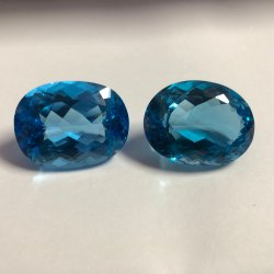 Swiss Blue Topaz Stone Faceted Oval Cut Gemstone Factory Price