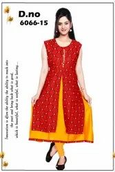 Fancy Georgette and Rayon Designer Kurti